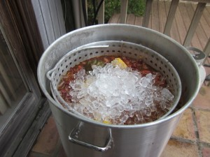 Shock The Crawfish With Ice